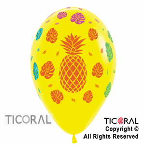 GLOBO S R12 INF FASHION TROPICAL AMARILLO x 50