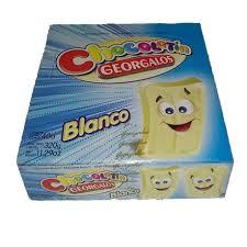 GOLO CHOCOLATE GEORGALOS BLANCO X 40 UNID (8GS C/U)  X 1