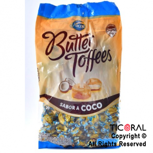 GOLO CARAMELO BUTTER TOFFEES RELLENO COCO X 822GR x 6