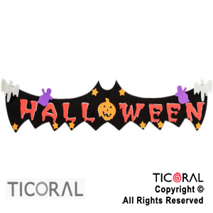 CARTEL HALLOWEEN HORIZONTAL GOMA EVA x 1