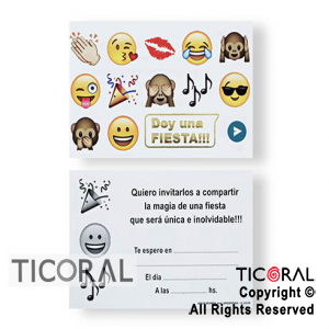 INVITACION TODA OCASION ART 6136 EMOTICON 6 x 10