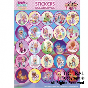 CRY BABIES STICKERS AUTOADHESIVOS 2 X 25 UNIDADES