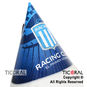 RACING GORRO FELIZ CUMPLE x 10