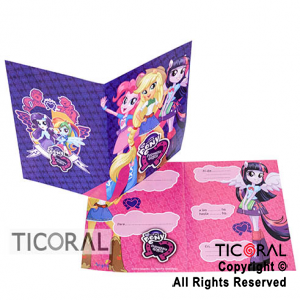 LITTLE PONY INVITACION x 10