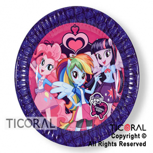 LITTLE PONY PLATO x 8
