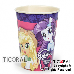 LITTLE PONY VASO PLASTICO x 10