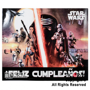 STAR WARS AFICHE FELIZ CUMPLE x 1
