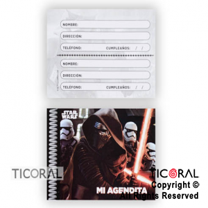 STAR WARS AGENDA MINI x 10