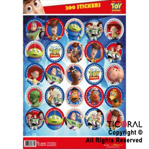 TOY STORY 4 STICKERS AUTOADHESIVOS 8 x 25 UNID
