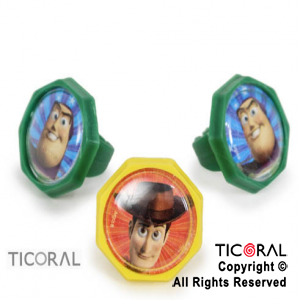 TOY STORY MINI ANILLO GDE x 8