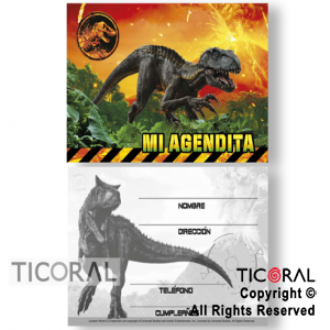 JURASSIC WORLD AGENDA MINI x 10