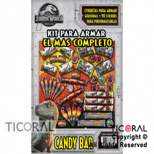 JURASSIC WORLD CANDY BAR ARMABLE x 1