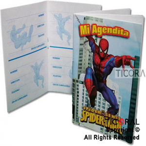 SPIDERMAN AGENDA MINI x 10