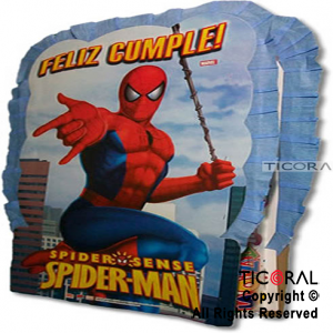 SPIDERMAN PIÑATA CARTON x 1