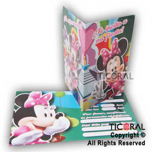 MINNIE INVITACION x 10
