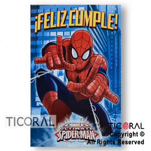 SPIDERMAN AFICHE FELIZ CUMPLE x 1