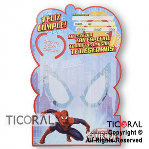 SPIDERMAN AFICHE RECORDATORIO x 1