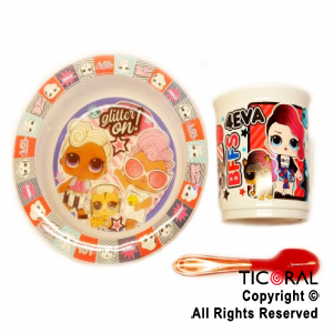 LOL SET BLISTER BOWL TAZA GRANDE Y CUCHARA x 1
