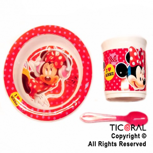 MINNIE SET BLISTER BOWL TAZA GRANDE Y CUCHARA x 1