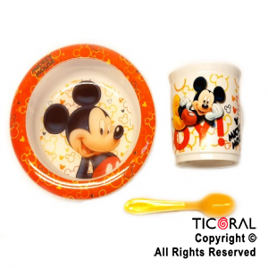 MICKEY SET BLISTER BOWL TAZA GRANDE Y CUCHARA x 1