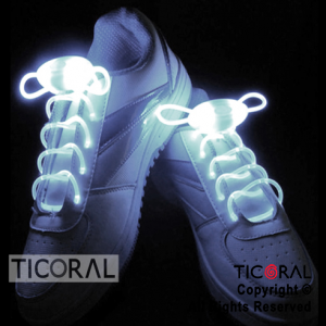 CORDONES PARA ZAPATILLAS LUMINOSOS x 1