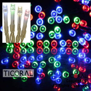 LUZ 100 LED MULTICOLOR CON SECUENCIADOR X 1