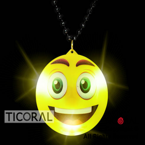 COLLAR GIGANTE EMOJI LUMINOSO x10