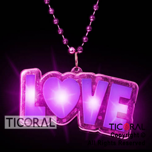 COLLAR GIGANTE LOVE LUMINOSO x10