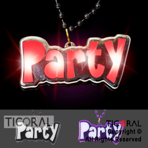 COLLAR GIGANTE PARTY LUMINOSO x10