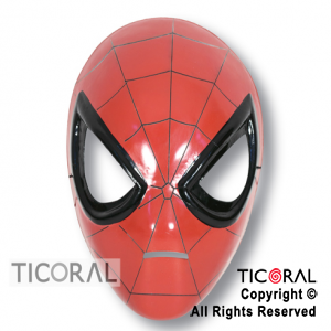 MASCARA SPIDERMAN ROJO PLASTICA x 1
