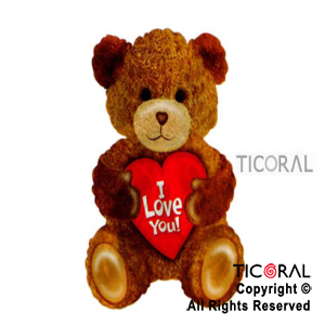GLOBO MYLAR 22.5/ OSO I LOVE YOU C/FORMA x 1
