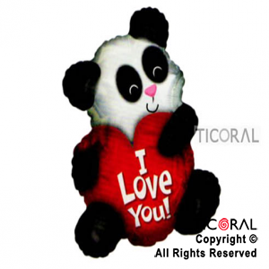 GLOBO MYLAR 17X20/ I LOVE YOU PANDA x 1