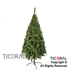 ARBOL 2144 CANADIENSE PREMIUM 2,10 MTS. VERDE BASE DE METAL x 1