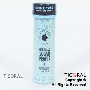 PERLAS COMESTIBLES LIGHT BLUE SUGAR 4MM x130GRS (CELESTE) WB-FD-1004