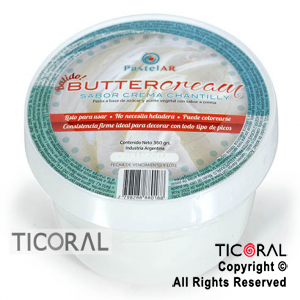 BUTTERCREAM CREMA VEGETAL CHANTTILLY LISTA PARA USAR 1 X 360GR