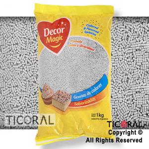 GRANA DECOR MAGIC BLANCA SABORIZADA X 1KG x 1