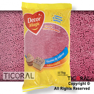 GRANA DECOR MAGIC ROSA BEBE SABORIZADA X 1KG x 1