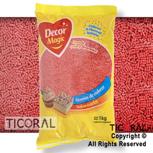 GRANA DECOR MAGIC ROJA SABORIZADA X 1KG x 1