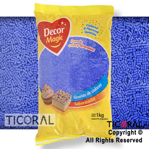 GRANA DECOR MAGIC AZUL SABORIZADA X 1KG x 1