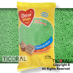 GRANA DECOR MAGIC VERDE SABORIZADA X 1KG x 1