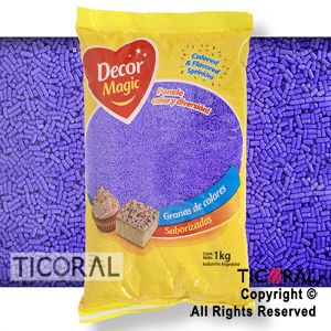GRANA DECOR MAGIC VIOLETA SABORIZADA X 1KG x 1