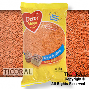 GRANA DECOR MAGIC NARANJA SABORIZADA X 1KG x 1