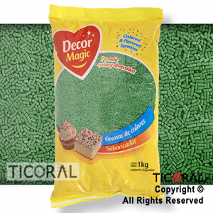 GRANA DECOR MAGIC VERDE OSCURO SABORIZADA X 1KG x 1