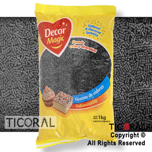 GRANA DECOR MAGIC NEGRA X 1KG x 1