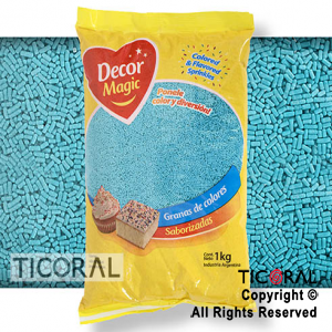 GRANA DECOR MAGIC TURQUESA X 1KG x 1