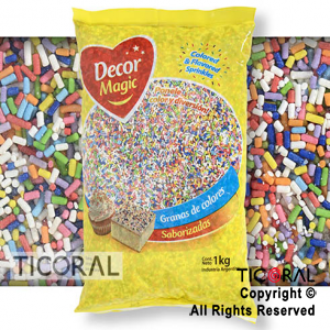 GRANA DECOR MAGIC MULTICOLOR CLASICO SABORIZADA X 1KG x 1