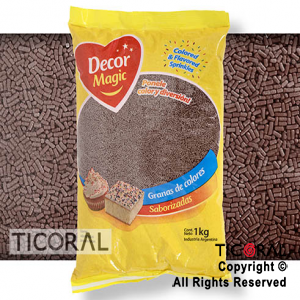 GRANA DECOR MAGIC MARRON OSCURO X 1KG x 1