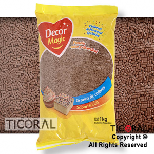 GRANA DECOR MAGIC DE CHOCOLATE SABORIZADA X 1KG x 1