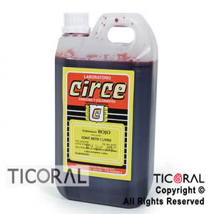 COLORANTE CIRCE LIQUIDO ROJO X 1LT