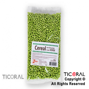CEREAL CHOCOLATE COLOR VERDE X200GR